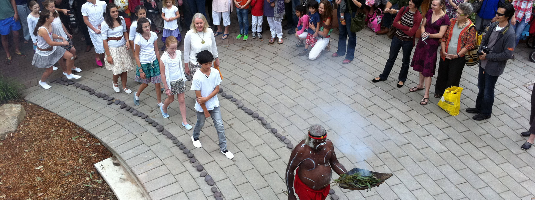 An Indigenous smoking ceremony